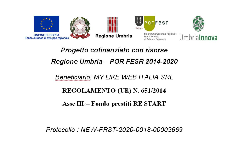 Regione Umbria – POR FESR 2014-2020